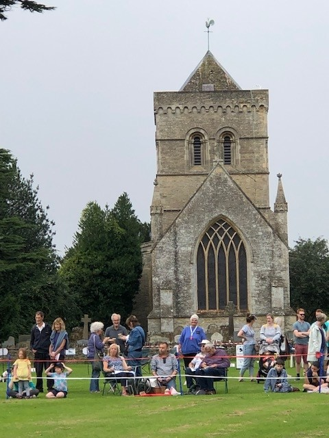 Fete picture with church